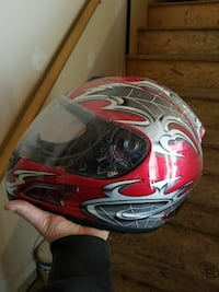 red and gray full-faced motorcycle helmet Arundel, 04046