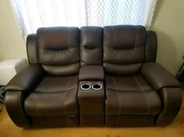 Recliner loveseat with center console