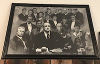 Rare framed mobster painting!!! Chicago