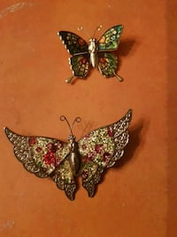 2 butterfly brooch  North Vancouver, V7N 2G3