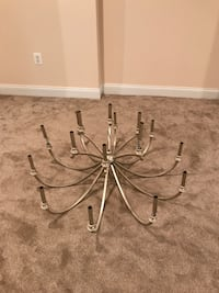 Gold metal colored chandelier