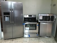 Stainless steel 4pcs kitchen appliances