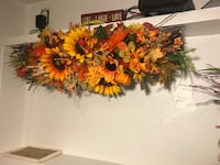 orange and yellow flower wreath null