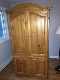 Brown Solid pinewood wooden cabinet with shelf Montréal, H4A 2G9