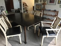 rectangular black and white wooden 7-piece dining set Huntington Beach, 92646