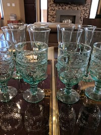 Lovely casual green wine and water glasses Phoenix, 85028