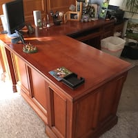 Brown Walnut L Desk and matching File Los Alamitos, 90720