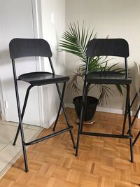 2 Bar stools foldable chairs