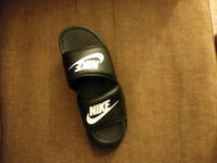 black and gray Nike slide sandal Lochearn, 21207