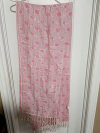 Reversible pink printed scarf from India Markham