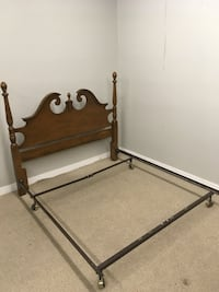 Brown wooden queen bed frame Abbotsford, V2T 2H4