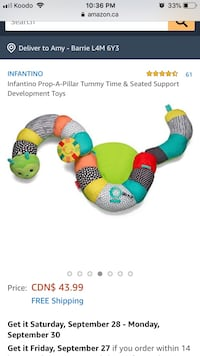 Infantino prop a piller-yummy time and seated support  Barrie, L4M 6Y3