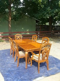 rectangular brown wooden table with six chairs din Spokane Valley, 99206