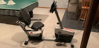 black and gray recumbent stationary bike Naperville, 60564