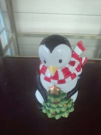 Holiday Penguin Cookie/Candy Jar