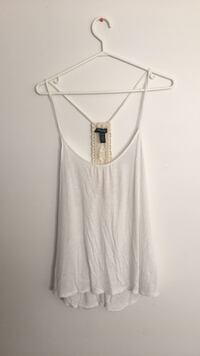 White scoop-neck sleeveless top Central Okanagan, V1X 7T7