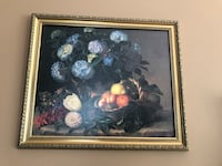 Black wooden framed painting of flowers Lorton, 22079
