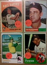 Price drop. Older Baseball Cards. Mount Pleasant