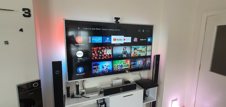 65 inç Android Philips 165 ekran 4k Amblight Tv 8