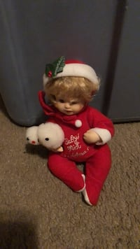 Porcelain Xmas baby doll  Pearl, 39208