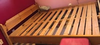 Solid wood pine double size bed frame Surrey, V3S 8Y7