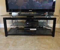 Glass and metal TV stand Foster City, 94404