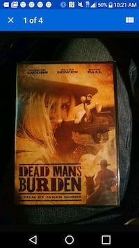 Dead mans burden dvd...brand new!!