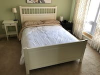 white wooden bed frame with white bed sheet Alexandria, 22314