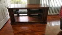 Large TV Stand - Real Wood with adjustable shelf