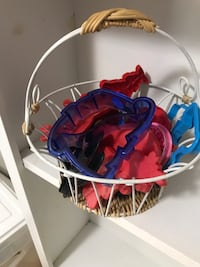 Basket of cookie cutters