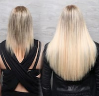 GBB hair extensions by certified tech through GBB East Gwillimbury