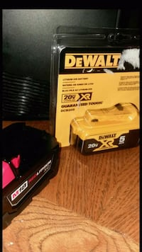 DeWalt 20v & M18 xc Red Lithium Batteries 299 mi