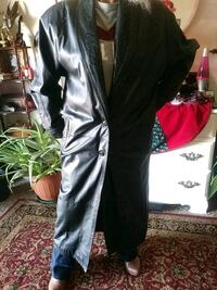 Black Leather Trench Womens Size Small Wichita, 67217