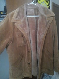 brown suede button-up jacket Enid, 73703