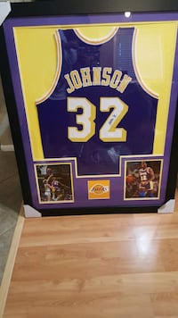 Framed Autographed Magic Johnson Jersey  Perris, 92571