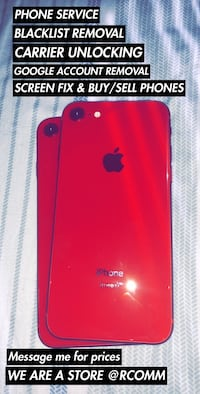 red iPhone 7 with box Arlington, 76017