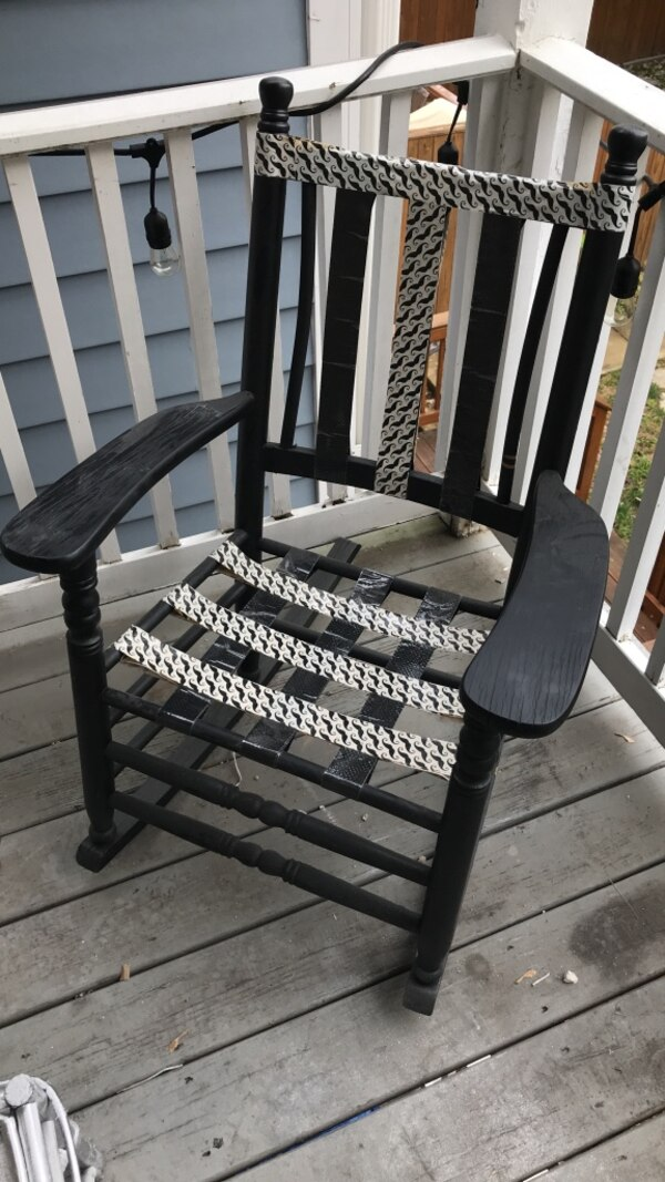 Funky upcycled rocking chair