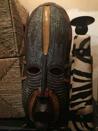 black and brown African mask Bowie, 20716