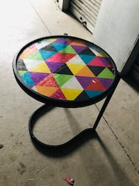 Colorful Retro Small Geo Side Table Millcreek, 84107
