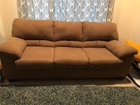 Brown fabric 3-seat sofa Germantown, 20874