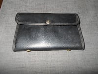 Vintage leather Fly Fishing Wallet USA MONTREAL