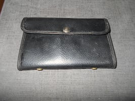 Vintage leather Fly Fishing Wallet USA