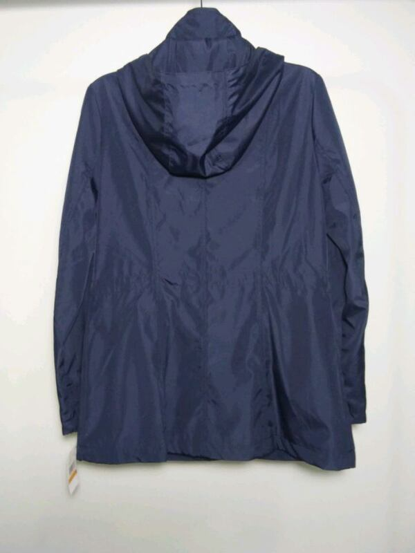 Michael Kors rain coat. Size S. Navy blue. New with tags. Retail $220. 50533757-0135-41fb-918b-35a4666615ad