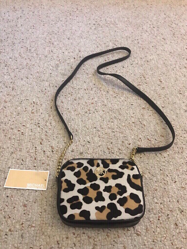 95d3e2e69cd3 Used Leopard Michael Kors Crossbody Bag for sale in Southwick - letgo