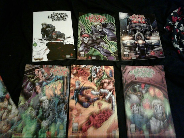 used 12 icp insane clown posse comics for sale in redford charter