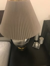 white ceramic base table lamp with white lampshade Falls Church, 22042