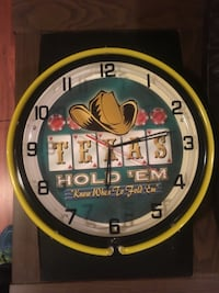 Texas Hold 'Em analog clock