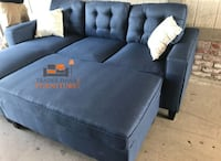 Brand new navy blue sectional sofa with ottoman Silver Spring, 20902