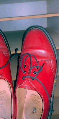 Red doc martens. East Saint Paul, R2E 1B7