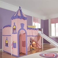 Princess castle bunk bed with slide West Grove, 19390